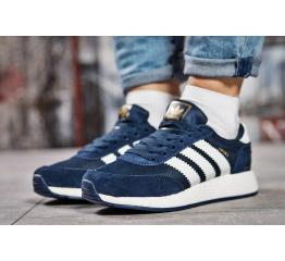 Купить Женские кроссовки Adidas Iniki синие с белым в Украине