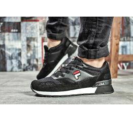 Купить Жіночі кросівки Fila чорні з білим