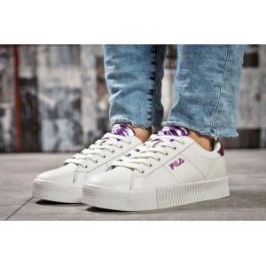 Женские кроссовки Fila Creeper белые с фиолетовым