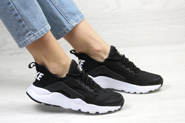 6acc4827 Nike (Найк) кроссовки Air Huarache Run Ultra черные с белым купить ...