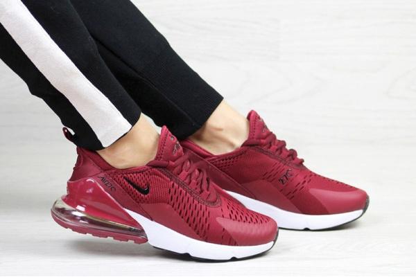 Женские кроссовки Nike Air Max 270 бордовые