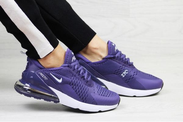 Женские кроссовки Nike Air Max 270 фиолетовые