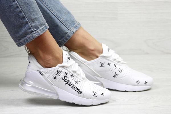 Женские кроссовки Nike Air Max 270 x Supreme белые