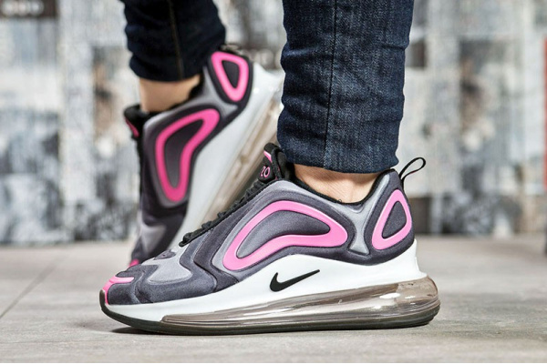 19961f0a Nike (Найк) кроссовки Air Max 720 серые с малиновым купить | ASPOLO