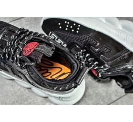 Женские кроссовки Versace Chain Reaction Sneakers черные