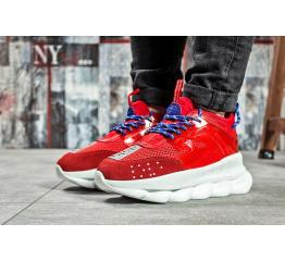 Женские кроссовки Versace Chain Reaction Sneakers красные