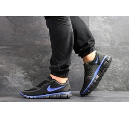 Купить Мужские кроссовки Nike Free 5.0 черные с синим