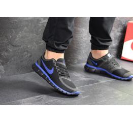 Купить Мужские кроссовки Nike Free 5.0 черные с синим в Украине