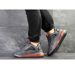 Купить Мужские кроссовки Nike Air Max 720 серые с оранжевым