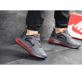 Купить Мужские кроссовки Nike Air Max 720 серые с оранжевым в Украине