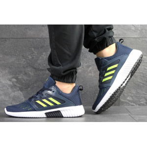 Мужские кроссовки Adidas Climacool Cm темно-синие с неоновым