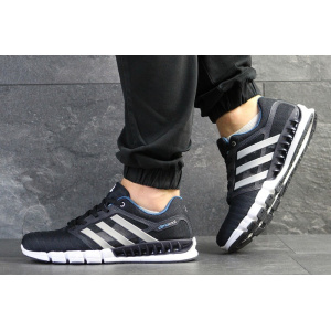 Мужские кроссовки Adidas Climacool Revolution темно-синие с серым