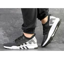 Купить Мужские кроссовки Adidas EQT Support Mid ADV Primeknit черные с светло-серым