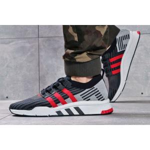 Мужские кроссовки Adidas EQT Support Mid ADV Primeknit темно-синие с серым