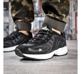 Мужские кроссовки Adidas Galaxy K черные с белым