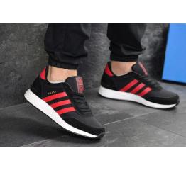Мужские кроссовки Adidas Iniki черные с красным