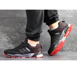 Мужские кроссовки Adidas Marathon черные с красным