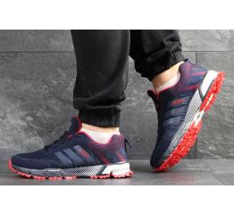 Купить Чоловічі кросівки Adidas Marathon сині з червоним