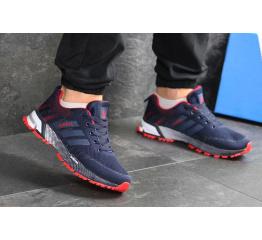 Купить Чоловічі кросівки Adidas Marathon сині з червоним в Украине
