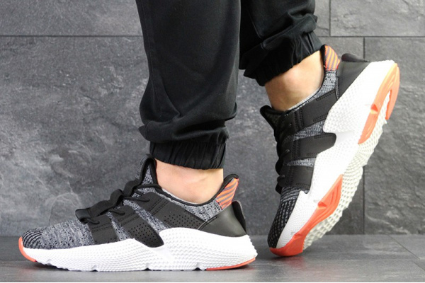 Мужские кроссовки Adidas Originals Prophere серые с белым и оранжевым