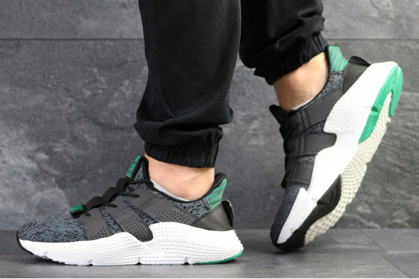 Мужские кроссовки Adidas Originals Prophere серые с зеленым