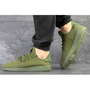 Мужские кроссовки Adidas Pharrell Williams Tennis Hu зеленые