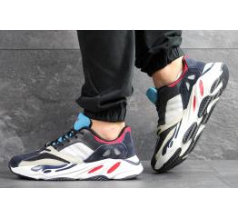 Купить Мужские кроссовки Adidas Yeezy Boost Wave Runner 700 x Balance Life темно-синие с белым