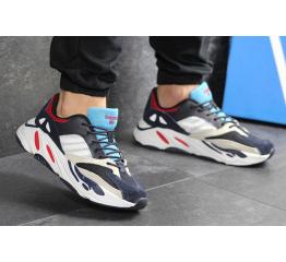 Купить Мужские кроссовки Adidas Yeezy Boost Wave Runner 700 x Balance Life темно-синие с белым в Украине