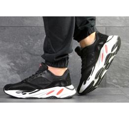Купить Мужские кроссовки Adidas Yeezy Boost Wave Runner 700 x Balance Life черные с белым