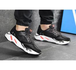Купить Мужские кроссовки Adidas Yeezy Boost Wave Runner 700 x Balance Life черные с белым в Украине