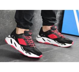 Купить Мужские кроссовки Adidas Yeezy Boost Wave Runner 700 x Balance Life черные с красным в Украине