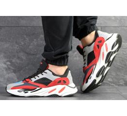 Купить Мужские кроссовки Adidas Yeezy Boost Wave Runner 700 x Balance Life серые с черным и красным