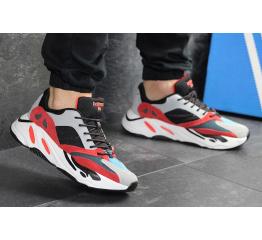 Купить Мужские кроссовки Adidas Yeezy Boost Wave Runner 700 x Balance Life серые с черным и красным в Украине