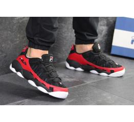 Мужские кроссовки Fila Spagetti Low черные с красным