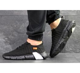 Мужские кроссовки Nike Air Flyknit черные с белым