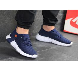 Мужские кроссовки Nike Air Flyknit темно-синие с белым