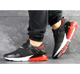 Мужские кроссовки Nike Air Max 270 черные с белым и красным