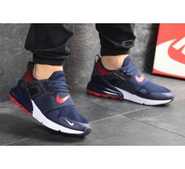 Мужские кроссовки Nike Air Max 270 темно-синие с белым