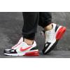 Мужские кроссовки Nike Air Max белые с красным
