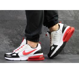 Купить Мужские кроссовки Nike Air Max белые с красным