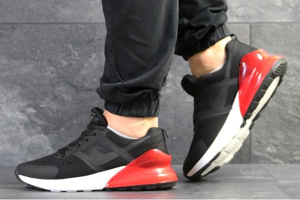 Мужские кроссовки Nike Air Max черные с белым и красным