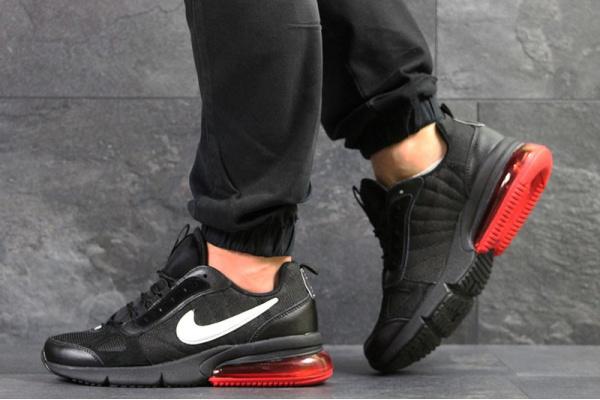 Мужские кроссовки Nike Air Max черные с красным