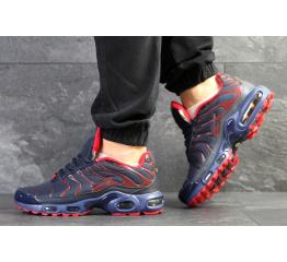 Купить Мужские кроссовки Nike Air Max Plus TN синие с красным