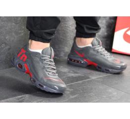 Купить Чоловічі кросівки Nike Air Max Plus TN Ultra SE сірі з червоним в Украине