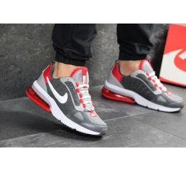 Мужские кроссовки Nike Air Max серые с красным