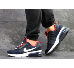 Купить Мужские кроссовки Nike Air Max темно-синие с красным