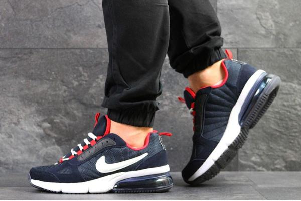 Мужские кроссовки Nike Air Max темно-синие с красным