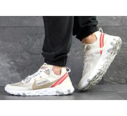 Купить Мужские кроссовки Nike React Element 87 x UNDERCOVER бежевые с красным