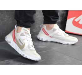 Купить Мужские кроссовки Nike React Element 87 x UNDERCOVER бежевые с красным в Украине