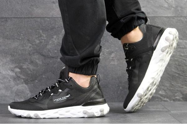 Мужские кроссовки Nike React Element 87 x UNDERCOVER черные с белым